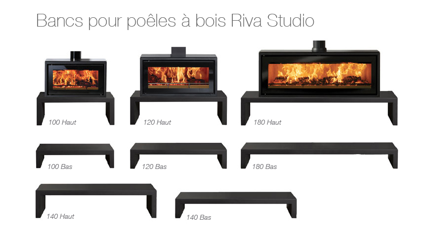 Dimensions et choix des bancs Riva Studio Freestanding