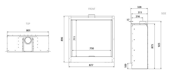 Reflex 75T Verve XS Dimensions