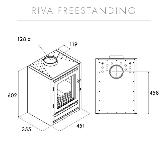Riva F40 Freestanding Dimensions