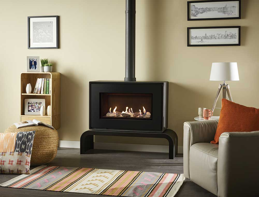 po le gaz studio 1 freestanding stovax gazco. Black Bedroom Furniture Sets. Home Design Ideas