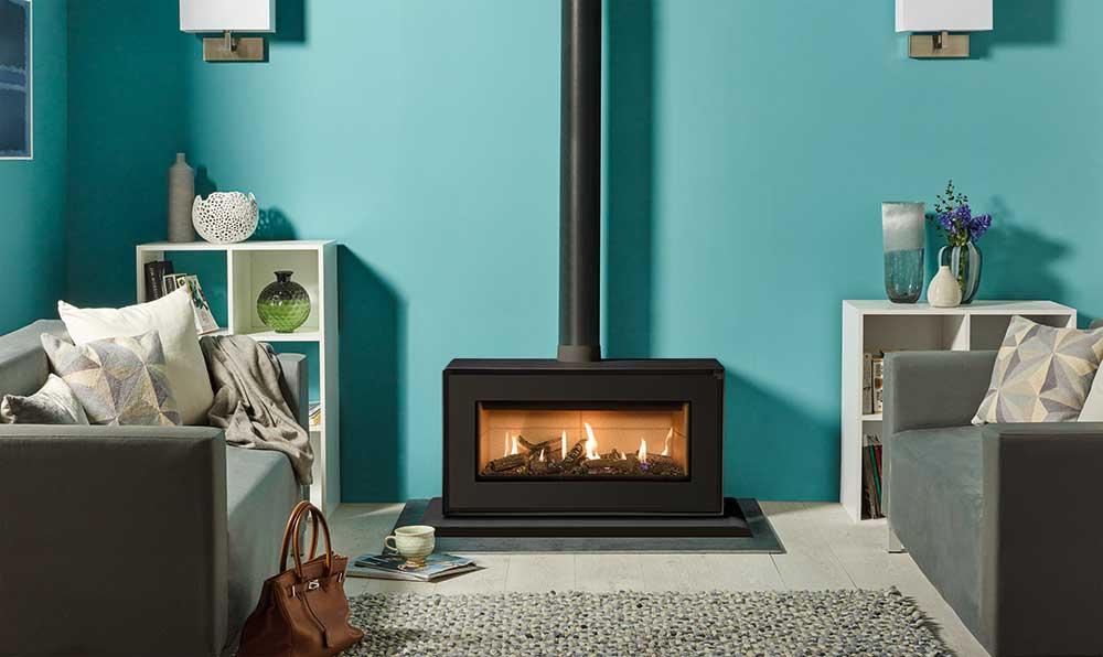 po le gaz studio 2 freestanding stovax gazco. Black Bedroom Furniture Sets. Home Design Ideas