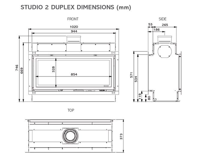 Studio 2 Duplex Dimensions