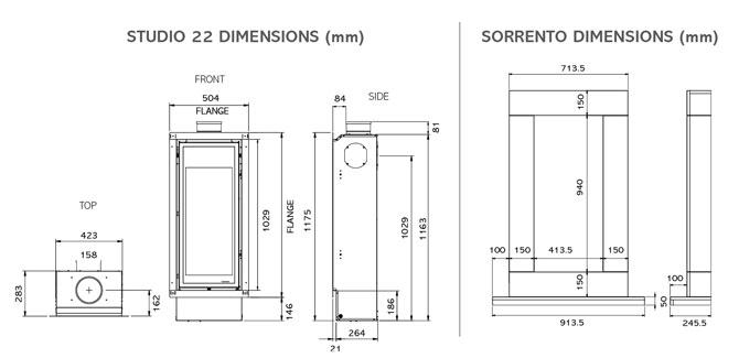 Studio 22 Dimensions